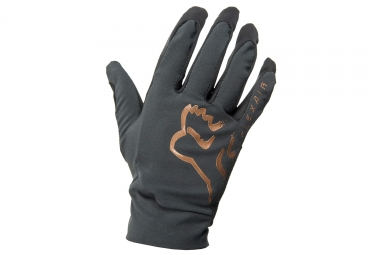 Gants longs fox flexair noir or l