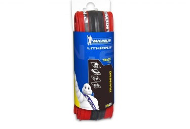 pneu michelin lithion 2 700x23c rouge tringle souple
