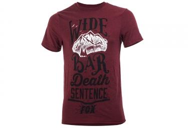 fox tee shirt wide bar tech tee rouge s