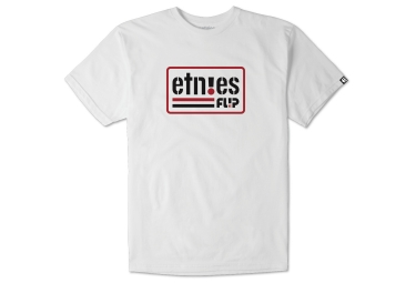 t shirt etnies flip side blanc xl