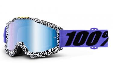 Maschera 100% Accuri Brentwood Mimetica Lente a Specchio Blu