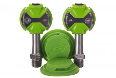 pedales speedplay zero inox vert cales walkable