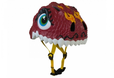 casque enfant crazy safety chinese dragon 3 a 6 ans rouge unique 49 55 cm