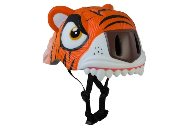 casque enfant crazy safety orange tiger 3 a 6 ans orange unique 49 55 cm
