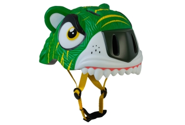 Casque enfant crazy safety green tiger tigre 3 a 6 ans vert unique 49 55 cm