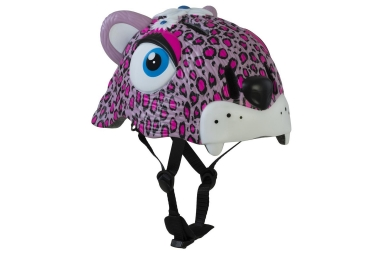 casque enfant crazy safety pink leopard 3 a 6 ans rose unique 49 55 cm