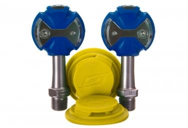 Pédales SPEEDPLAY Zéro Inox Bleu (Cales Walkable)