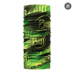 tour de cou buff high uv flashlogo noir vert