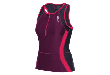 2XU Sleeveless Compression Singlet PERFORM TRI Black Purple Women