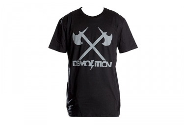 T shirt demolition axes noir m