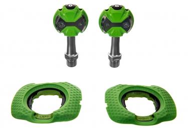 Pédales SPEEDPLAY Zéro Inox Vert (Cales Walkable)