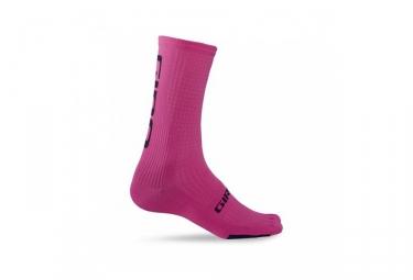 Giro paire de chaussettes hrc team rose noir 37 39