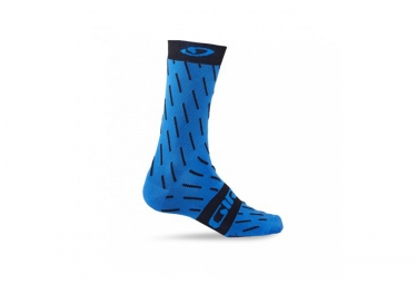 Paire de chaussette giro comp racer high rise bleu noir 36 39