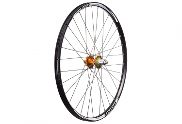 Roue arriere hope tech enduro pro 4 27 5 12x148mm corps sram xd orange