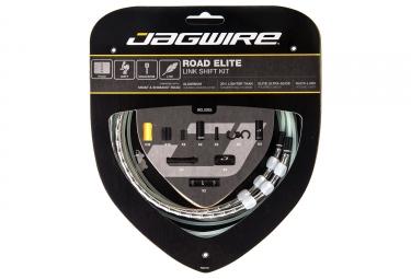 kit cable et gaine route jagwire road elite link pour derailleur argent