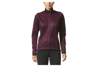 veste thermique femme adidas cycling warmtefront violet xs