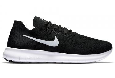 Nike free rn flyknit 2017 noir blanc homme 43