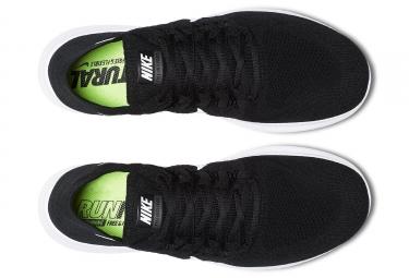 Chaussures de Running Nike Free RN Flyknit 2017 Noir / Blanc