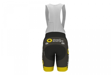Cuissard Court ALE Team Direct Energie 2017 Noir Jaune