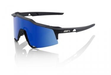 100 lunettes speedcraft ll soft tact noir bleu miroir