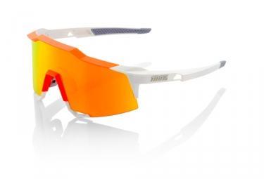 100 lunettes speedcraft ll blanc orange hiper miroir rouge