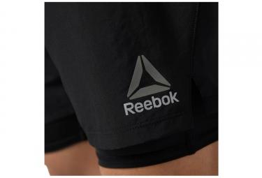 Short 2-en-1 Reebok Noir