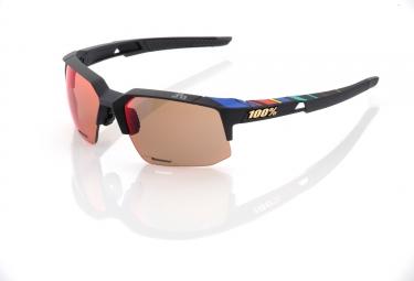 lunettes 100 speedcoupe ll soft tact black sagan ecran miroir or