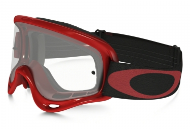 masque oakley xs o frame mx rouge noir transparent oo7030 13