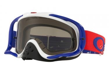 masque oakley crowbar mx rouge blanc bleu gris fonce oo7025 50