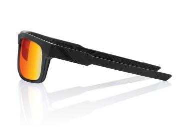 paire de lunettes 100 type s soft tact black ecran hiper miroir rouge