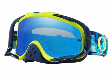 masque oakley crowbar mx thermo camo bleu citron bleu ice transparent oo7025 56