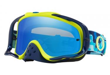 masque oakley crowbar mx thermo camo bleu citron bleu ice transparent oo7025 56