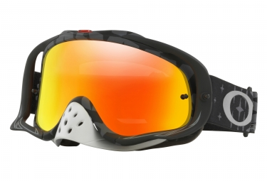 masque oakley crowbar mx tld megaburst noir fire iridium oo7025 47