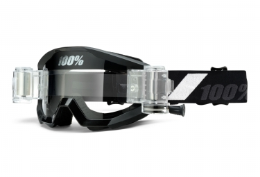 100% Strata Mud Goggles - Goliath - Black/Clear