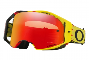 masque oakley airbrake mx high voltage jaune rouge prizm mx torch oo7046 68