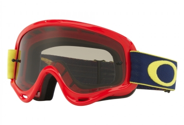 masque oakley xs o frame mx kickstart rouge jaune gris fonce oo7030 12