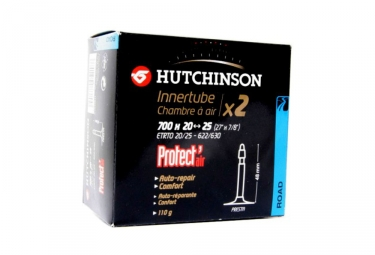 Lot de 2 Chambre à Air Route HUTCHINSON Protect Air 700x20/25 Presta 48mm