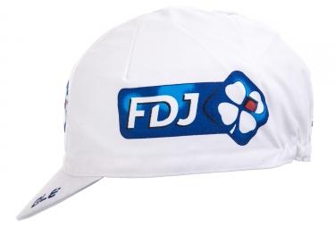 Casquette ALE Team FDJ 2017 Blanc Bleu