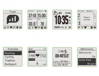 produit reconditionne bryton montre gps amis s630 h multi sport triatlhon ceinture c