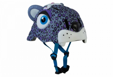 Crazy Safety Purple Leopard Youth Helmet 3-6 Years Purple