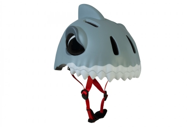 Casque enfant crazy safety white shark requin 3 a 6 ans gris unique 49 55 cm