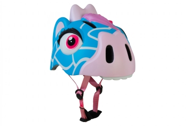 Casque enfant crazy safety blue giraffe girafe 3 a 6 ans bleu rose unique 49 55 cm