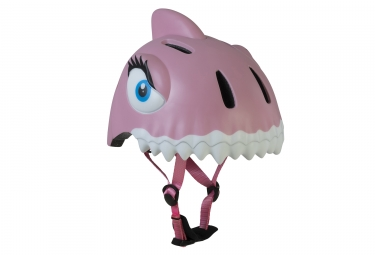 Casque enfant crazy safety pink shark requin 3 a 6 ans rose unique 49 55 cm