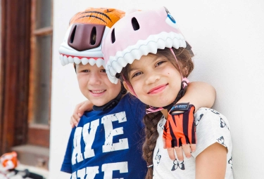 Casque Enfant Crazy Safety Orange Tiger / Tigre 3 à 6 ans Orange