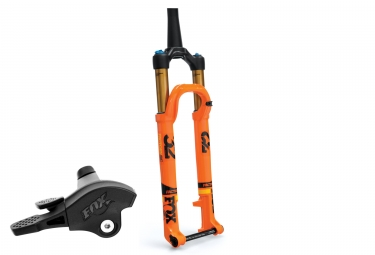 fourche fox racing shox 32 float sc factory fit4 remote 29 kabolt boost 15x110mm 2018 orange 100