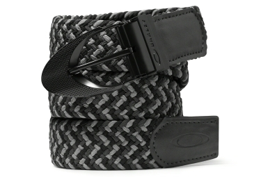 ceinture oakley stretch braided noir s m