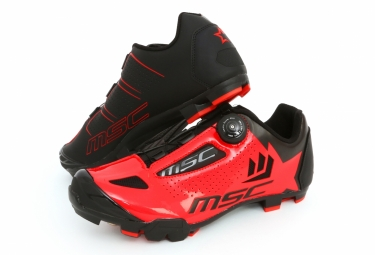 zapatillas mtb msc aero xc rouge noir 2017 46 - MSC