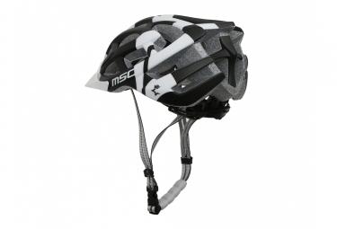 casque vtt msc noir blanc l xl 58 61 cm