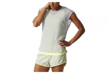 Adidas t shirt run femme gris jaune l