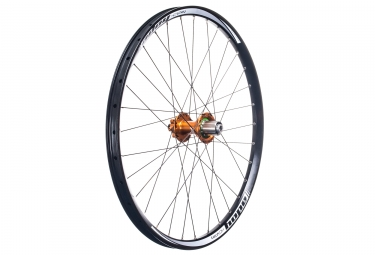 Roue arriere hope tech dh pro 4 27 5 12x150mm corps shimano sram orange